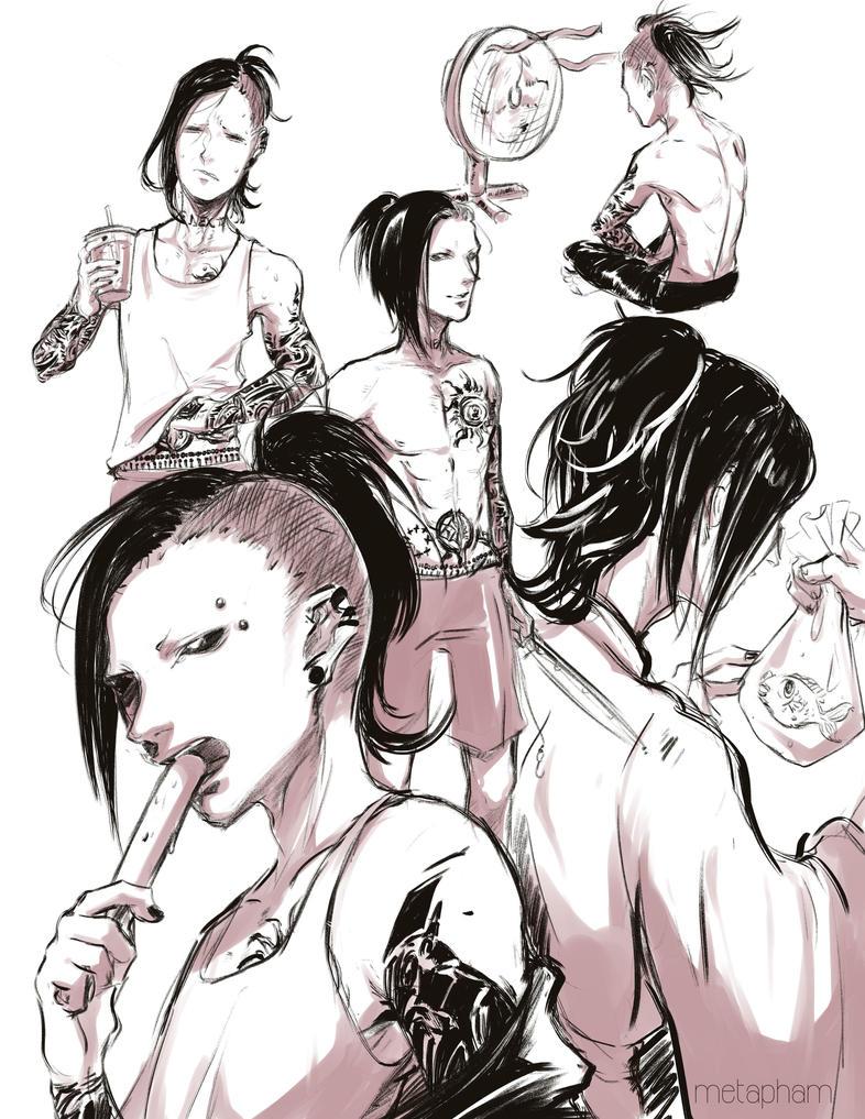 Summer Uta Sketch Page by Metapham