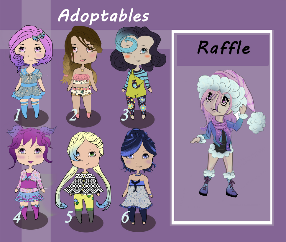 Cute Adoptables+Raffle (open) by chabbix