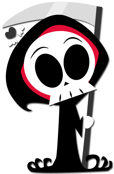 Chibi-fied Grim Reaper by enigmatia on DeviantArt