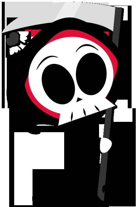 Chibi-fied Grim Reaper by enigmatia