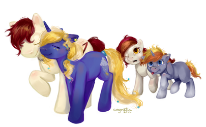 Pony Commission: Starry and Forest's Family
