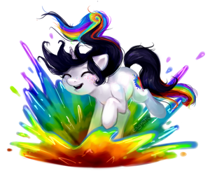 Pony Commission: Colour Splash