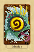 Hearthstone Murloc Back Cards by Sbapstien