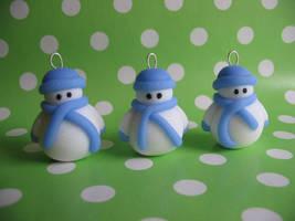 Snowman charms by fliepsiebieps