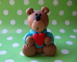valentine Bear by fliepsiebieps