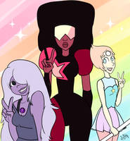 Crystal Gems by Mely14Arts