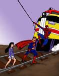 Superman and Spiderman Slash 1: Lois Lane Peril by DarkLinkxxx84