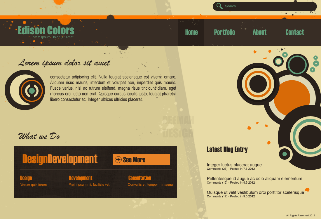 Colors for professional website -  Edison Colors Web Layout By Deemahdesign