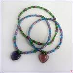Glass Heart Bracelets by joannastar