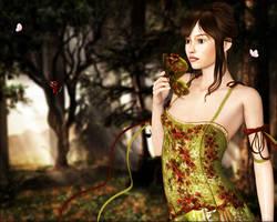 Demoiselle des papillons by joannastar