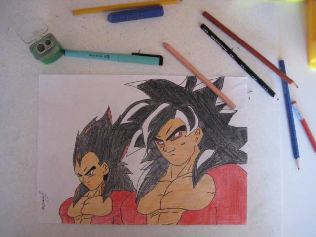 Vegeta and Goku SSj4 by Andrix1995
