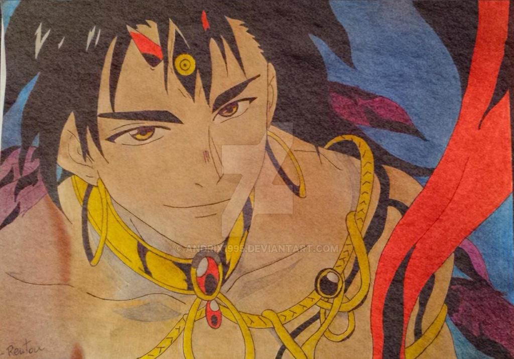 Magi: The Kingdom of Magic - Sinbad Focalor Armor by Andrix1995