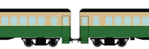 Americanized Green Express Coaches (PNG)
