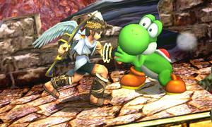 Pit Strangling Yoshi