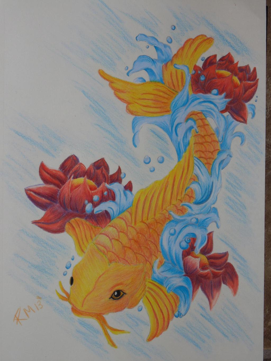 Koi fish drawing color for Koi fish colors