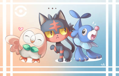 Pokemon Sun and Moon Starter by KagamiiX