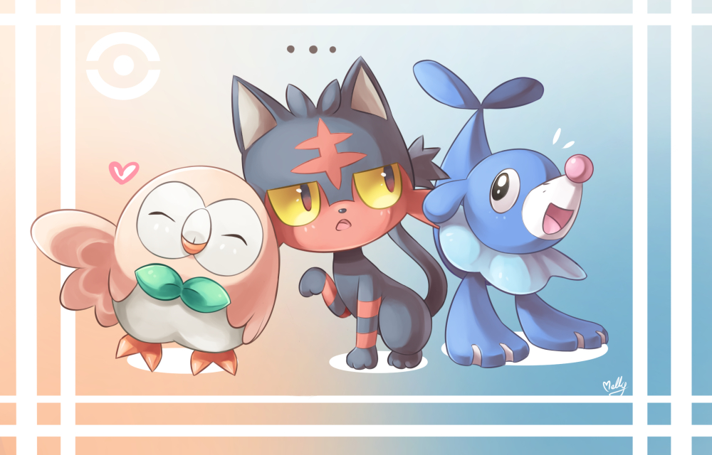 Pokemon Sun And Moon Wallpaper: Pokemon Sun And Moon Starter By KagamiiX On DeviantArt