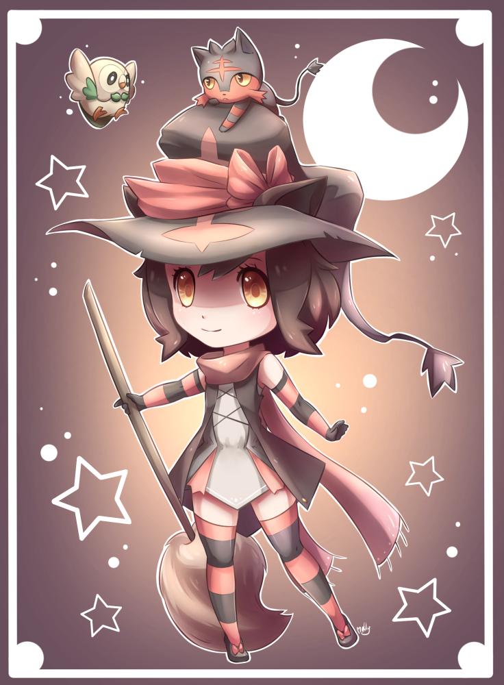 Litten Chibi Gijinka -Pokemon Sun and Moon by KagamiiX