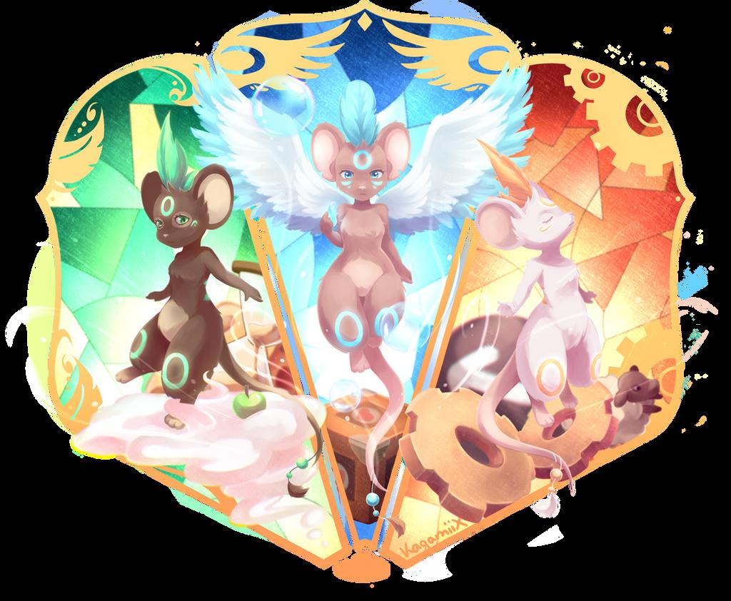 Three Shaman Queens by KagamiiX