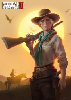 Sadie-Red Dead: Redemption Fanart