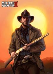 Arthur Morgan-Red Dead Redemption2 Fanart by dannis1982