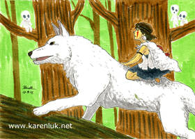 Princess Mononoke and wolf
