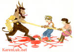 Krampus Tug of War