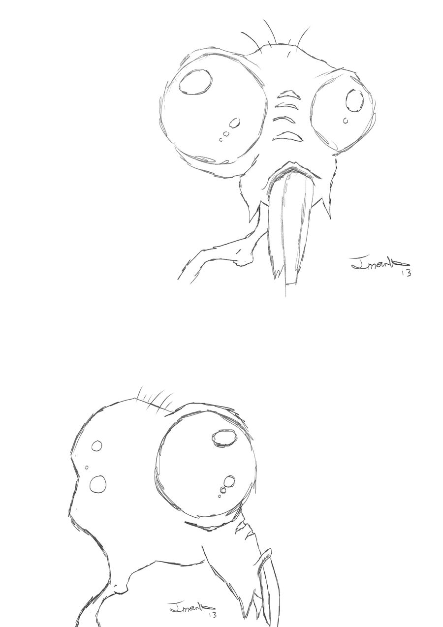 Creature Sketch Front and Side