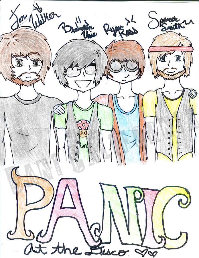 Panic At The Disco Anime Style By Dani DINOattack