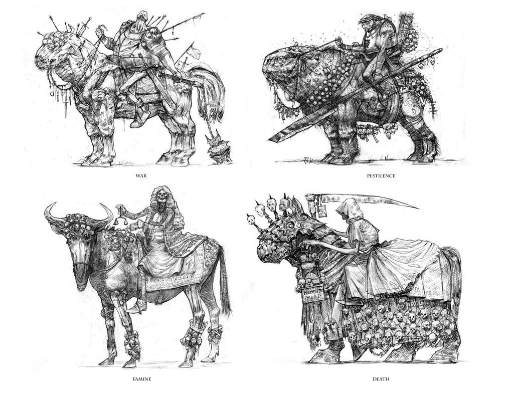 The four horsemen of the apocalypse by DavidGau
