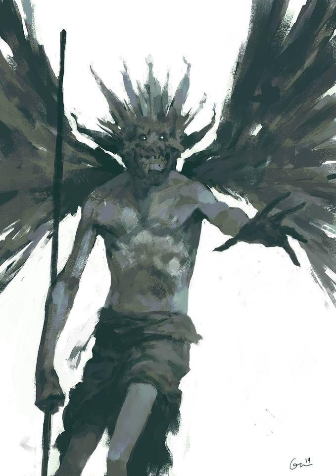 demon painting by DavidGau