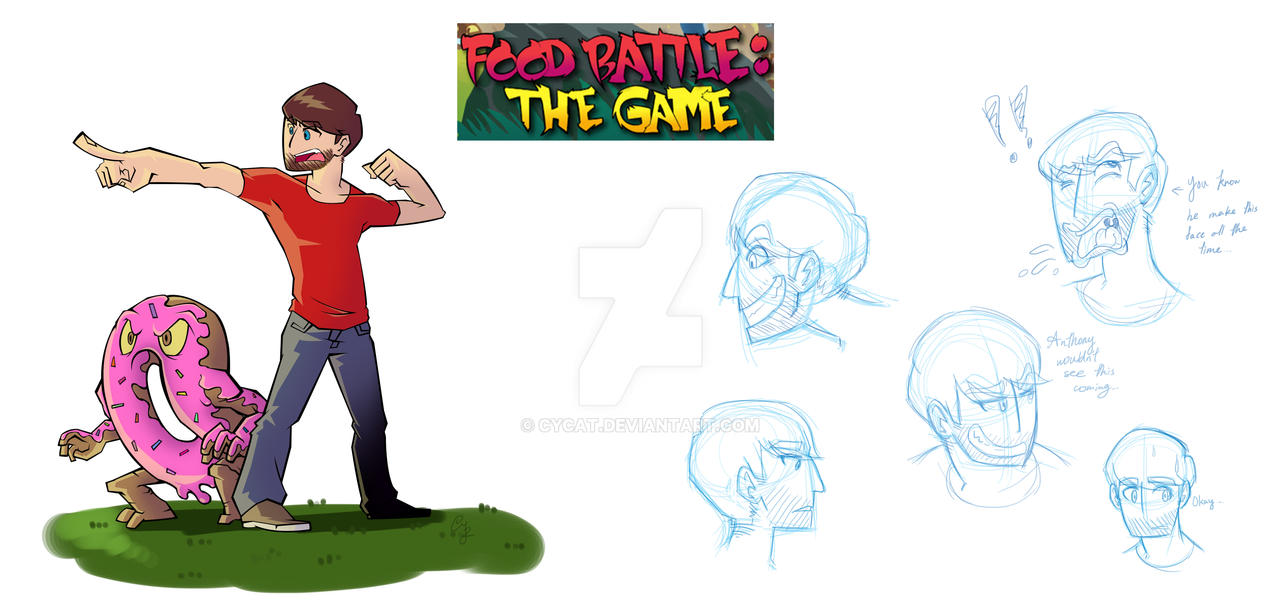 Food Battle Ian By Cycat On Deviantart