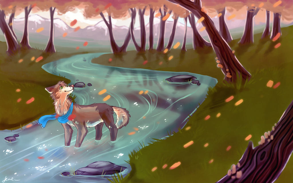 autumn rivers by LoupDeMort