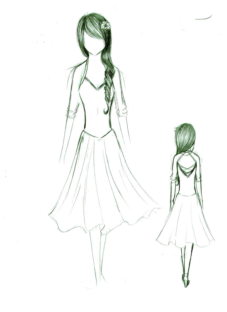 Design Dress Drawings Drawing of dres