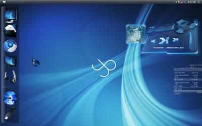 Blue desktop by whattoput
