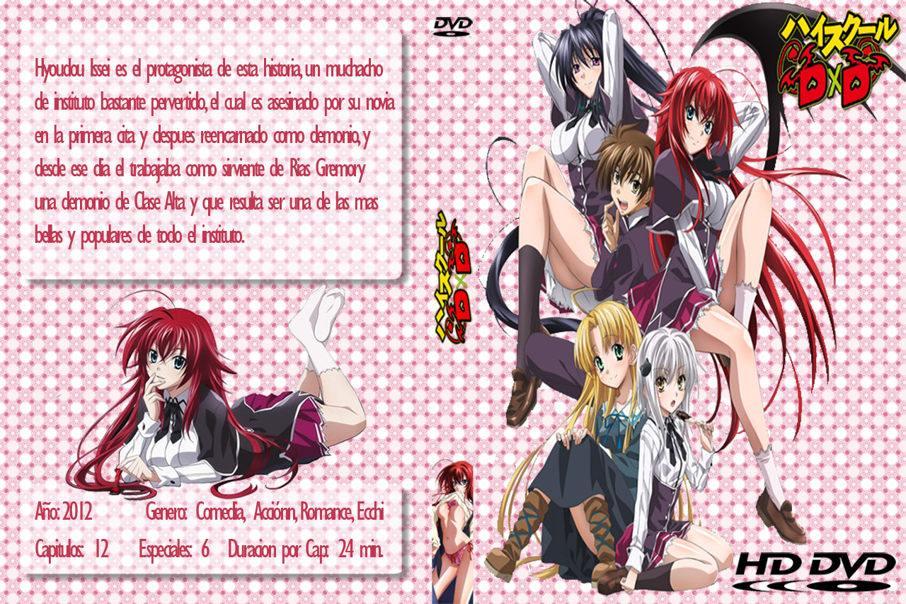 High School DxD DVD Cover by baxtom1995