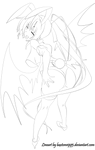 [Lineart/Version 1] Akeno Himejima