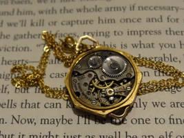 Steampunk vintage necklace by Hiddendemon-666