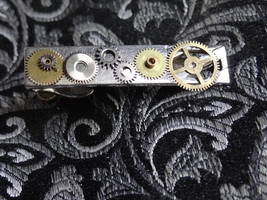 Steampunk tie clasp by Hiddendemon-666