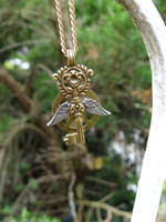 Steampunk mini key necklace by Hiddendemon-666