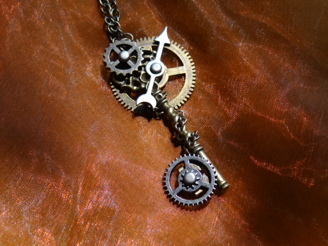 Steampunk key necklace III by Hiddendemon-666
