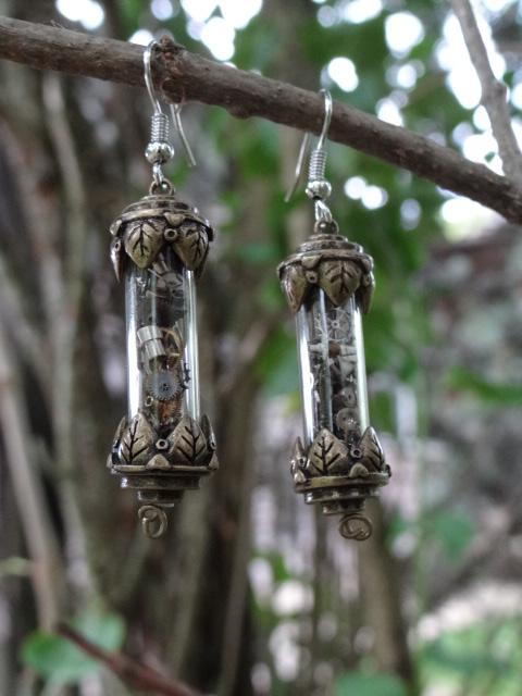 Steampunk fairy earrings by Hiddendemon-666