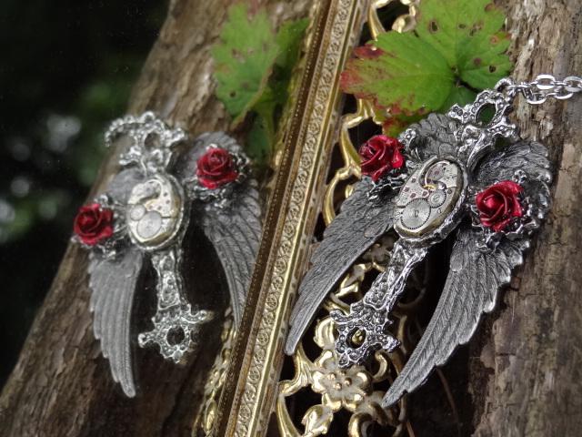 Gothic Steampunk Cross by Hiddendemon-666