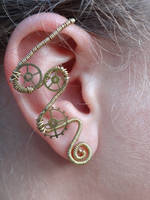 Wire wrapped ear cuff by Hiddendemon-666