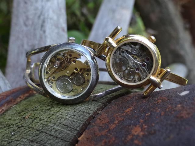 Steampunk gear bracelets by Hiddendemon-666