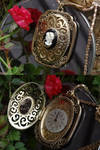 Steampunk cameo locket