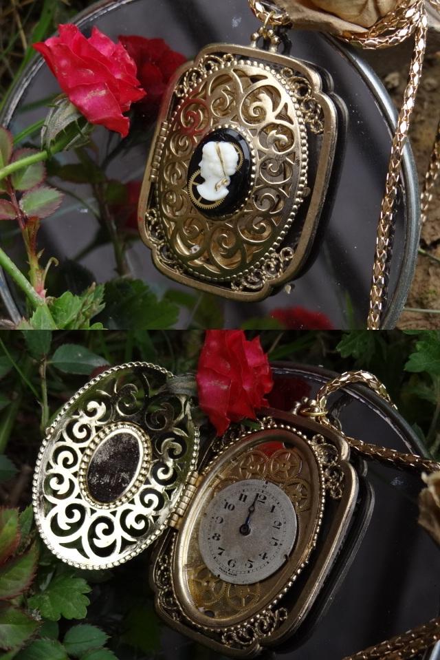 Steampunk cameo locket by Hiddendemon-666
