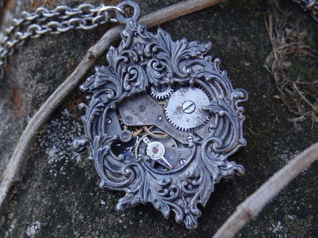 Steampunk victorian necklace by Hiddendemon-666