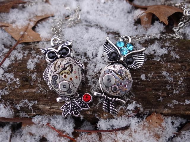 Steampunk snow owls by Hiddendemon-666