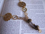 Steampunk vial necklace